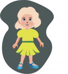 Иллюстрация девочки