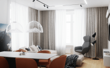 Квартира в современном стиле (гостиная)