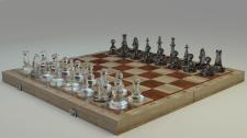 """Модель """"Скляні шахи на дошці"""""""