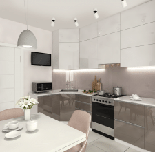Дизайн інтер'єру кухні ЖК Синергія-3