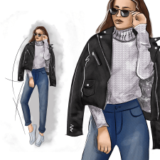 Цифровая живопись. Fashion-иллюстрация