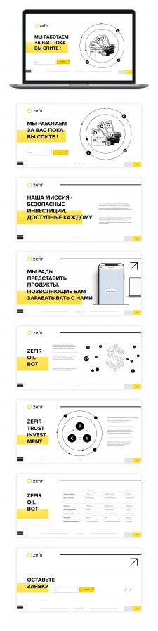 Сайт-визитка Zefir