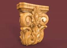 3D модель для чпу капитель