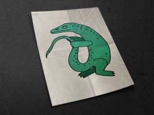Стилизация ящерицы для издания