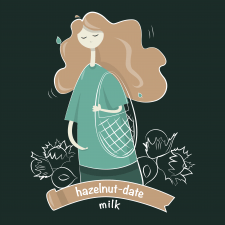 Character for milk brand
