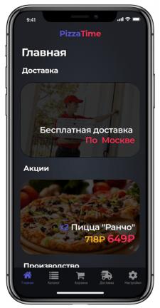 Приложение-сервис по доставке пиццы