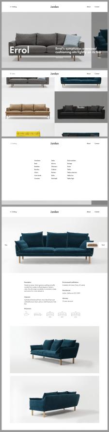 Дизайн сайта итальянской мебели Jardan