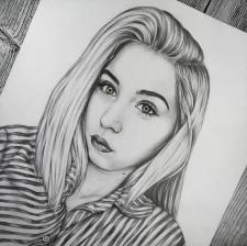портрет графічним олівцем