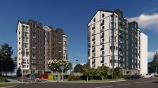 Эскизный проэкт многоэтажных жилых домов