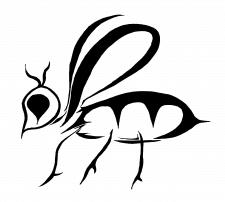 Графический рисунок - пчела