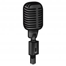 Микрофон - пример векторной графики