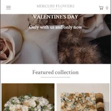 Shopify интернет-магазин Mercury Flowers