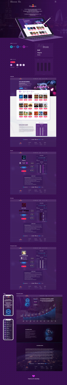 UI/UX design for Play2win-gaming platform
