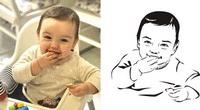 Детский векторный портрет