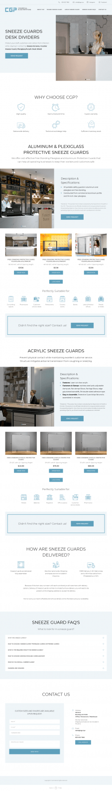 Protective Sneeze Guards & Workplace Barriers | CG