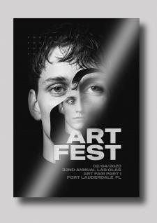 Плакат к Арт фестивалю.