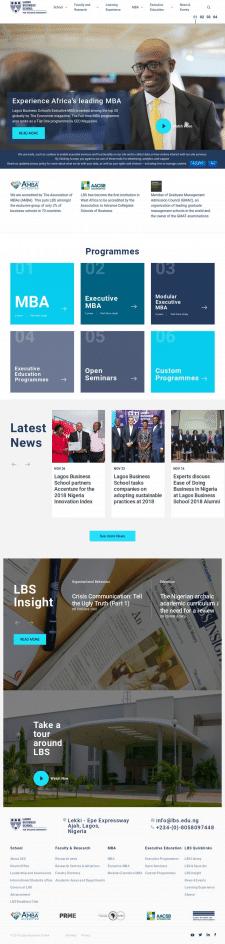 Корпоративный сайт для бизнес школы