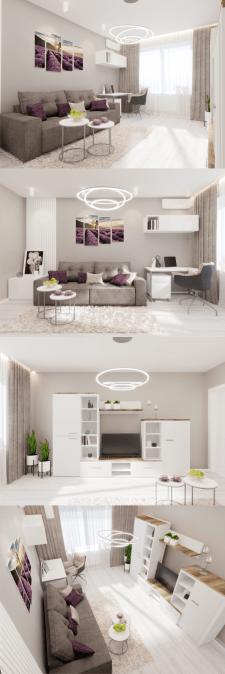 Дизайн гостиной Дизайн 1 ком. квартиры в г.Харьков