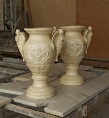 Роспись ваз под мрамор.