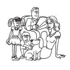 семья (для рисованного видео)
