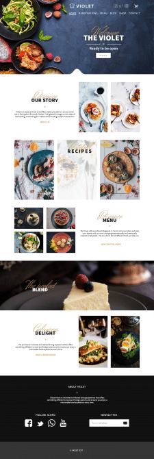 Сайт ресторану Violet