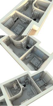 3D макет размещения мебели 3