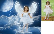 Коллаж. Девочка-ангел