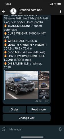 Branded cars bot