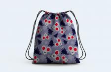 бесшовный векторный узор, дизайн рюкзака