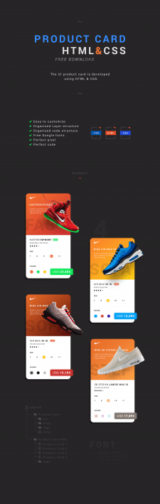 Product Card (HTML/CSS)