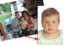 Фото на документы ребёнку из общей фотографии