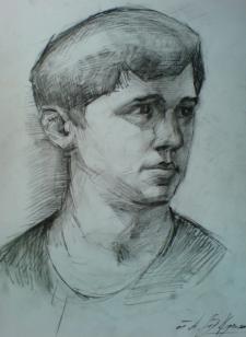 Портрет углем