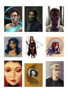 Иллюстрации в разных стилях