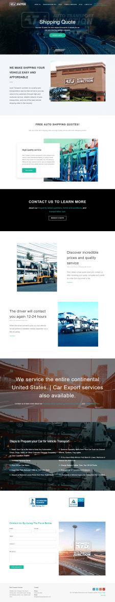 сайт Американской компании Autotransport junction