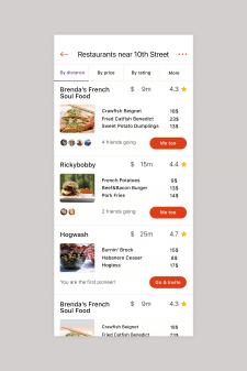 Дизайн страницы мобильного приложения
