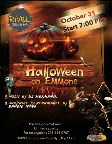 Дизайн флаера на тему  Halloween