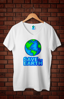 Принт для футболки Save the Earth