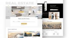 Дизайн и вёрстка сайта по продаже недвижимости