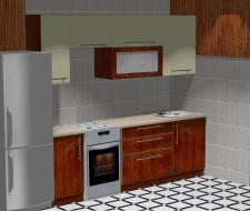 Визуализация кухни в PRO100 по эскизу заказчика