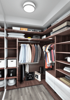 Визуализация гардероба из дизайн проекта