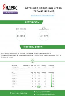 Яндекс Директ -  Бетонная черепица