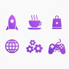 Векторные иконки на тему мобильных приложений
