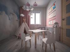 Дизайн детской комнаты в 3к квартире