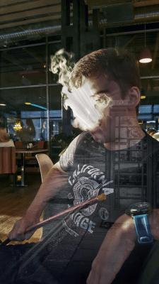 Обработка фото+цветокоррекция+двойная экспозиция