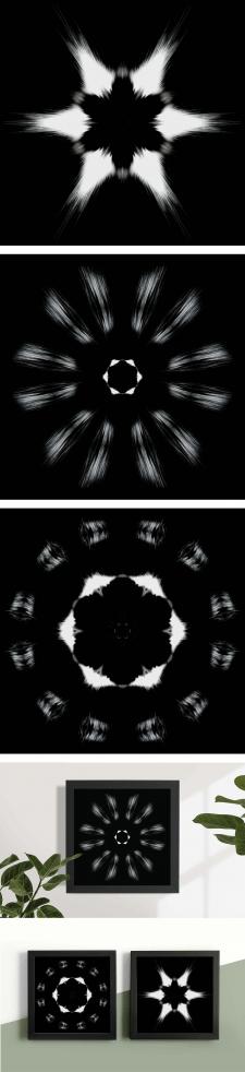 Создание дизайна набора из трех постеров