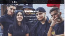 Дизайн одностраничного сайта (барбершоп)