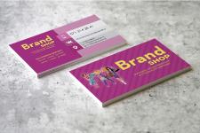 Визитки для магазина одежды Brand Shop