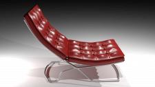 Красное кожаное кресло