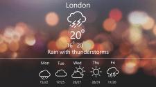 """Дизайн страницы сайта  """"Погода"""""""