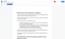Тексты об инвестировании на польском языке
